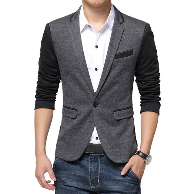 NaranjaSabor New Men's Spring Autumn Blazer High Quality Fashion Suit Coats Men Slim Fit Brand Clothing Male Casual Jackets N546