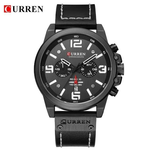 Men watch Sport Quartz Wrist Watch Man Casual Genuine Leather