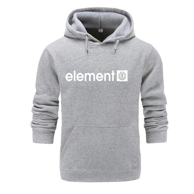 New 2018 Autumn Winter Brand Mens Hoodies Sweatshirts Men High Quality ELEMENT Letter Printing Long Sleeve Fashion Mens Hoodies