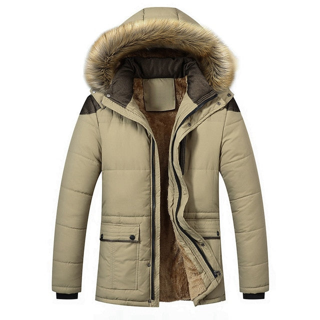 Fur Collar Hooded Jacket - fashion-beco