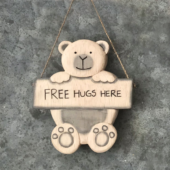Hanging bear -free hugs