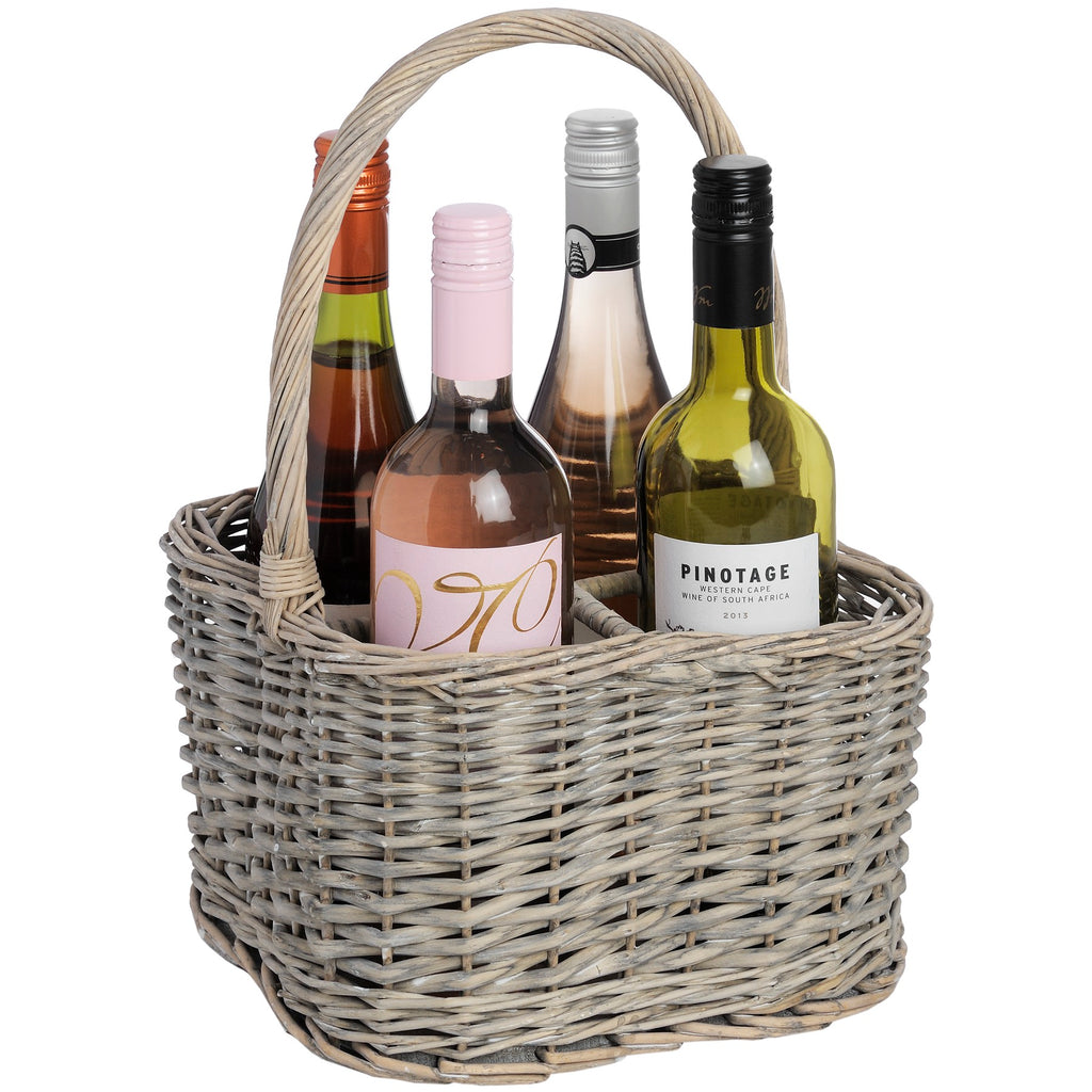 Willow 4 Bottle Wine Carrier