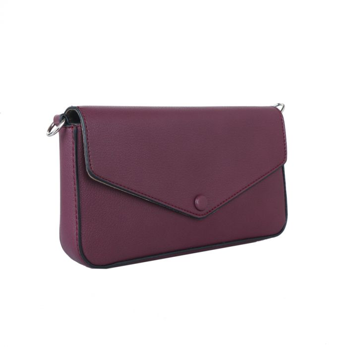 Structured Cross Body Bag With Matching Coin Purse - Various Colours