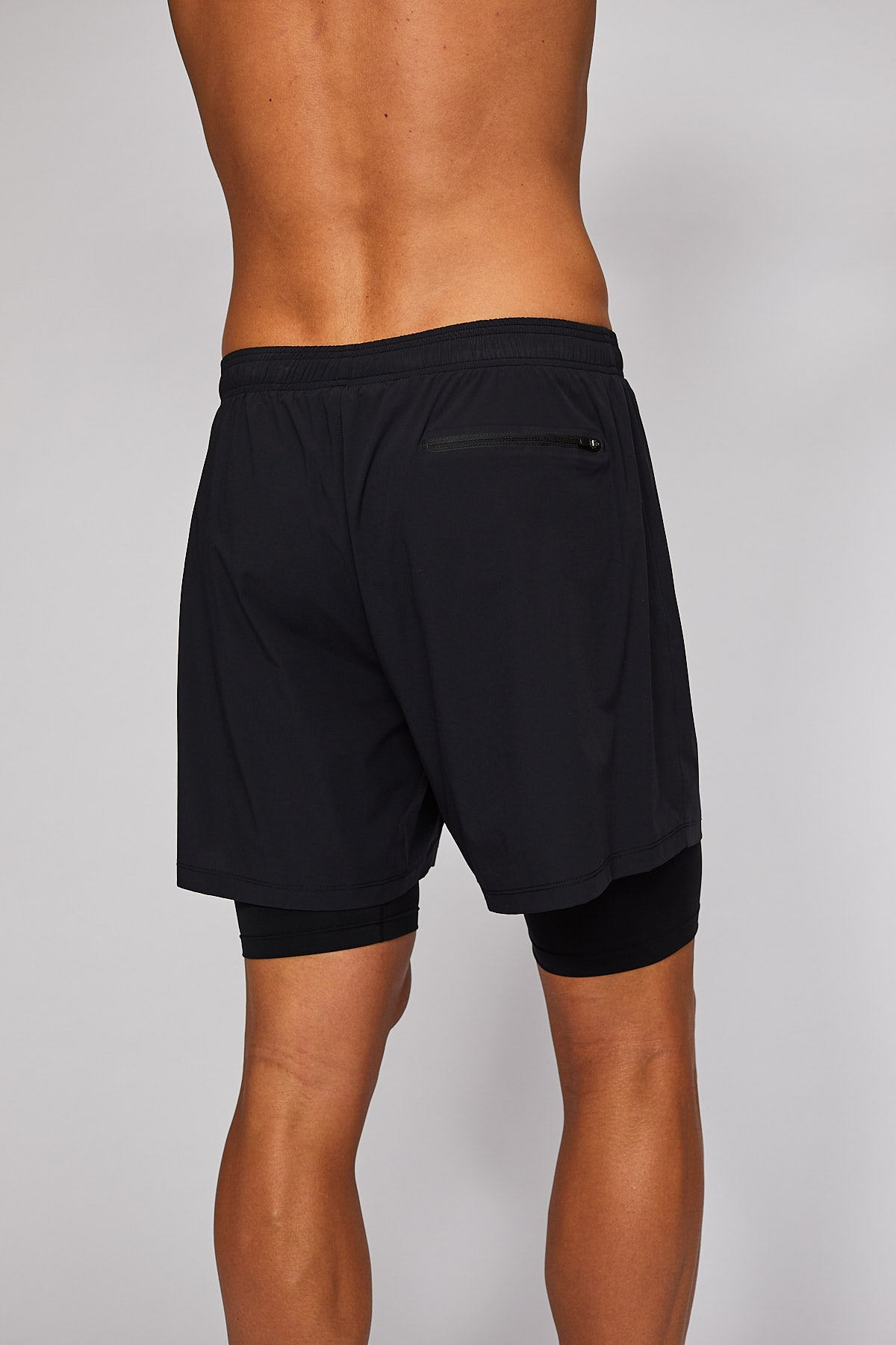 "PERFORMANCE RUN 5"" SHORTS WITH COMPRESSION TIGHT SHORT - MENS"