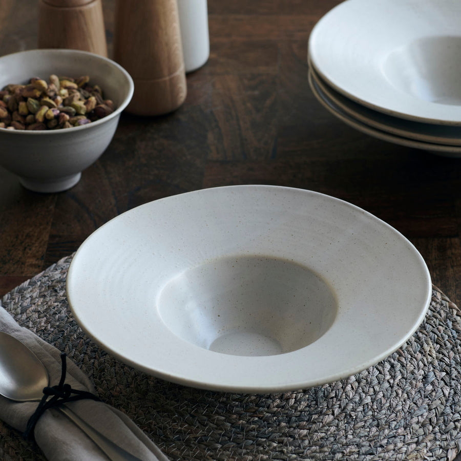 Housedoctor Pion Pasta Bowl/Plate, Grey/White