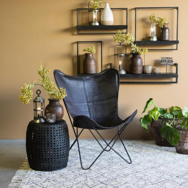 Butterfly Chair - Black Leather