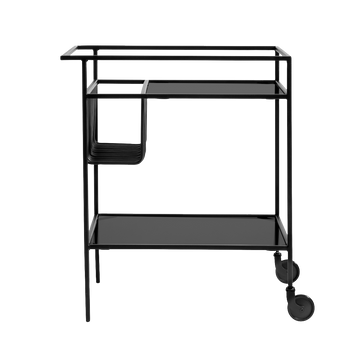 Muubs Denver Bar Table/Trolley, Black