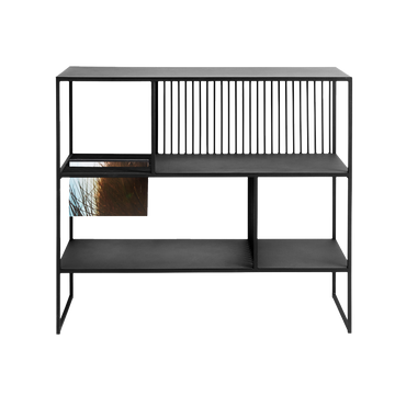 Denver Low Bookshelf, Black