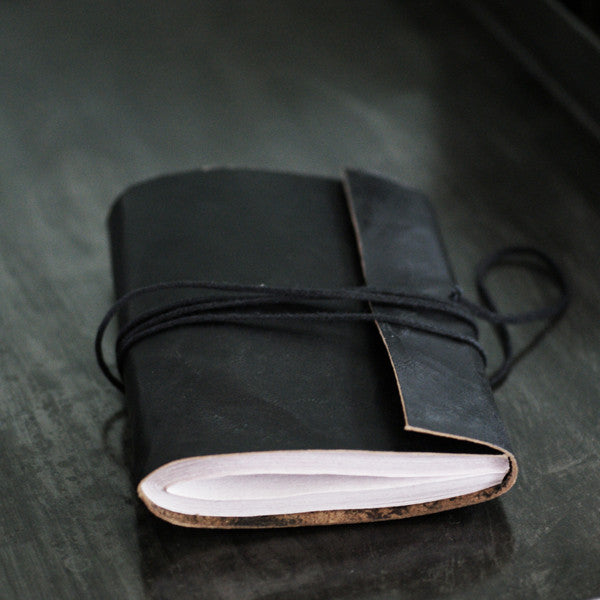Vora Leather Note Book - Black