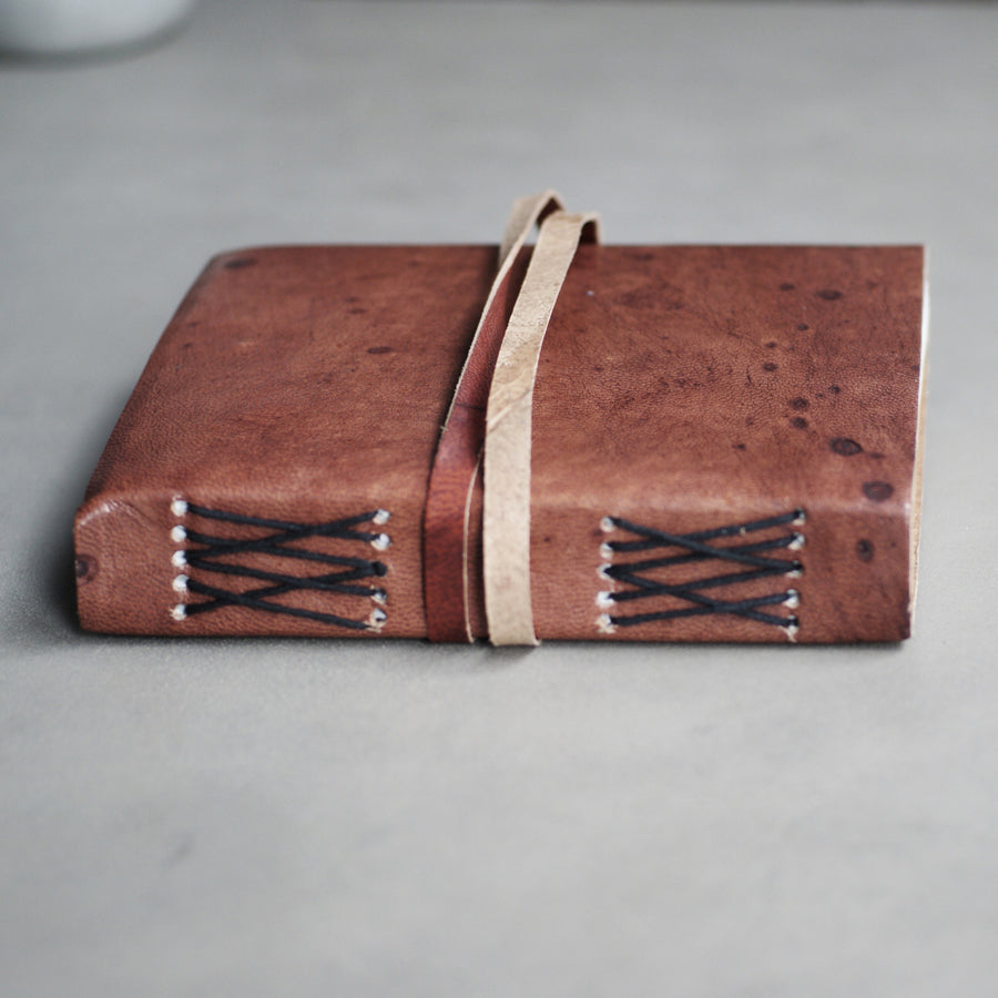Vora Leather Travel book - Brown