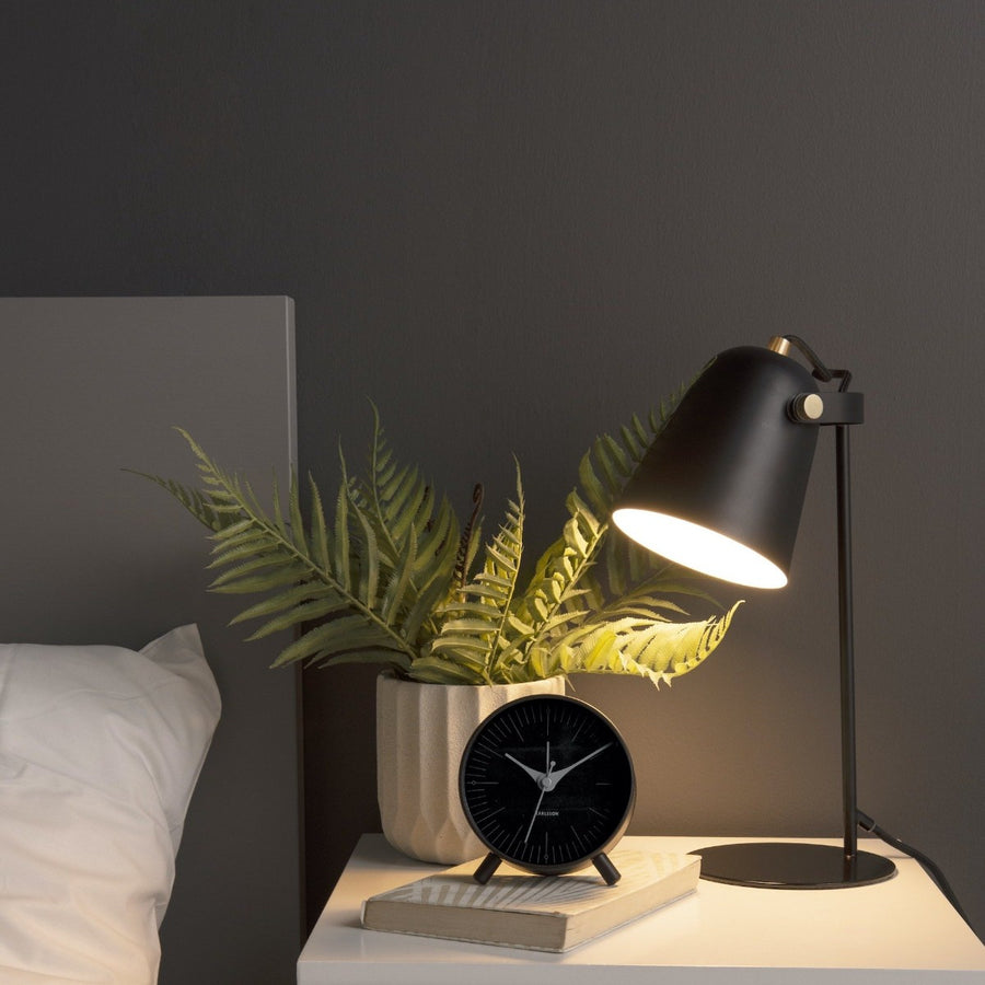 Karlsson Index Alarm Clock, Black
