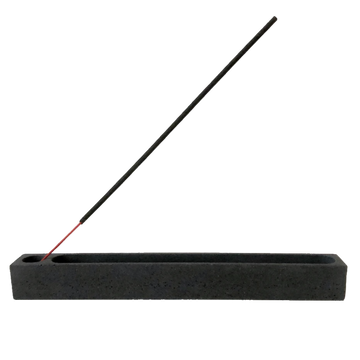 Concrete Goods Lugn Incense Holder, Charcoal Black