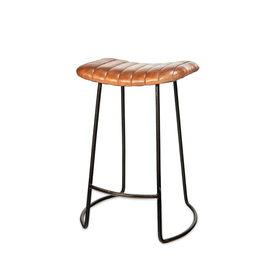 Nkuku Narwana Leather stool