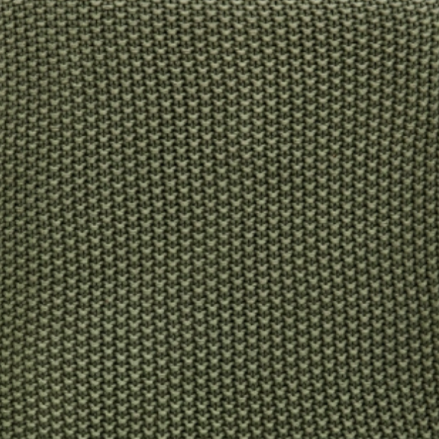 Moss Stitch Cotton Throw, Forest Green by Nkuku