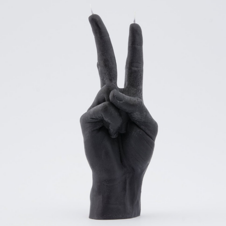 Hand Gesture Candle, PEACE OUT