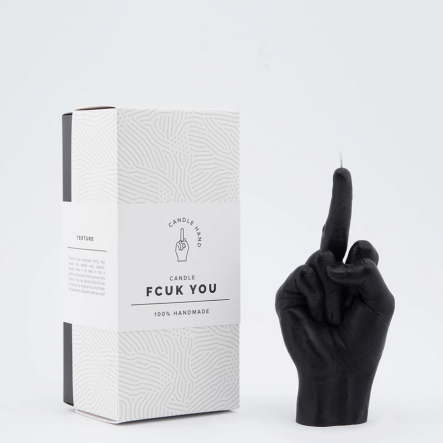 'Fcuk You' Hand Gesture Candle