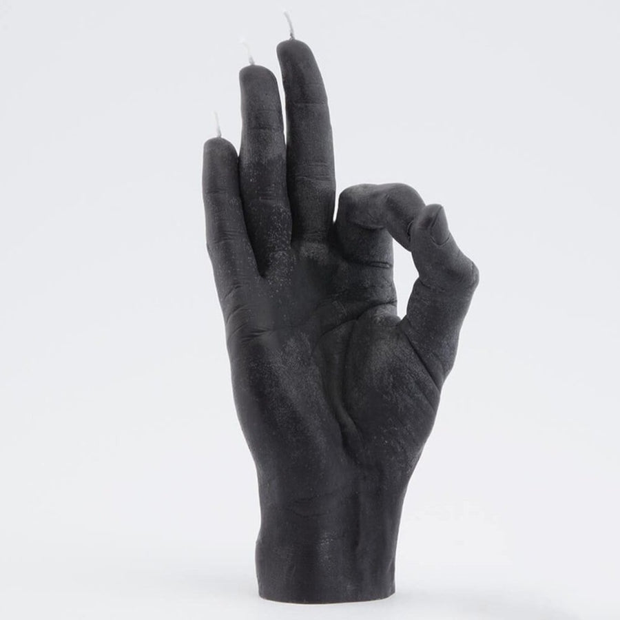 'Ok' Hand Gesture Candle