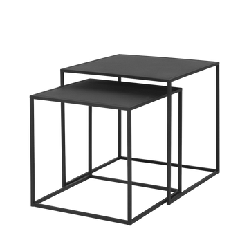 Set of 2 Fera Side Tables, Black