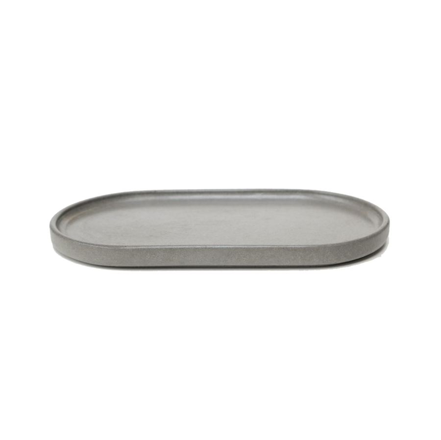 Wild & Wood Concrete oval plate