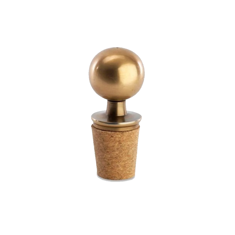 Nkuku Adon Bottle Stopper, Brass