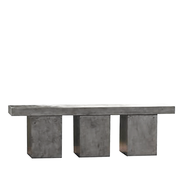 Kando Bench, Concrete Grey
