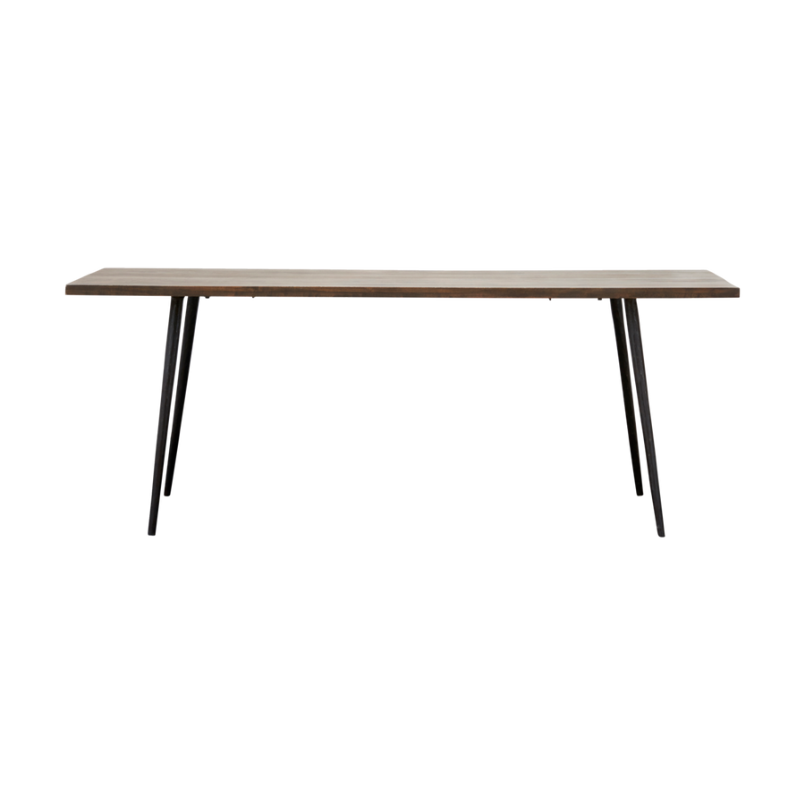 Club Dining Table, Black Stained, Rectangle