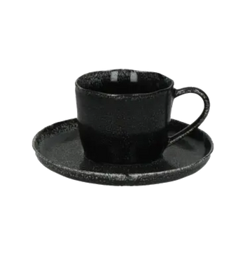 Experience Porcelino Black dinnerware by Pomax