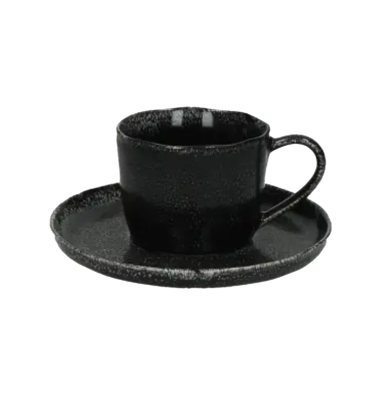Experience Black Cup & Saucer