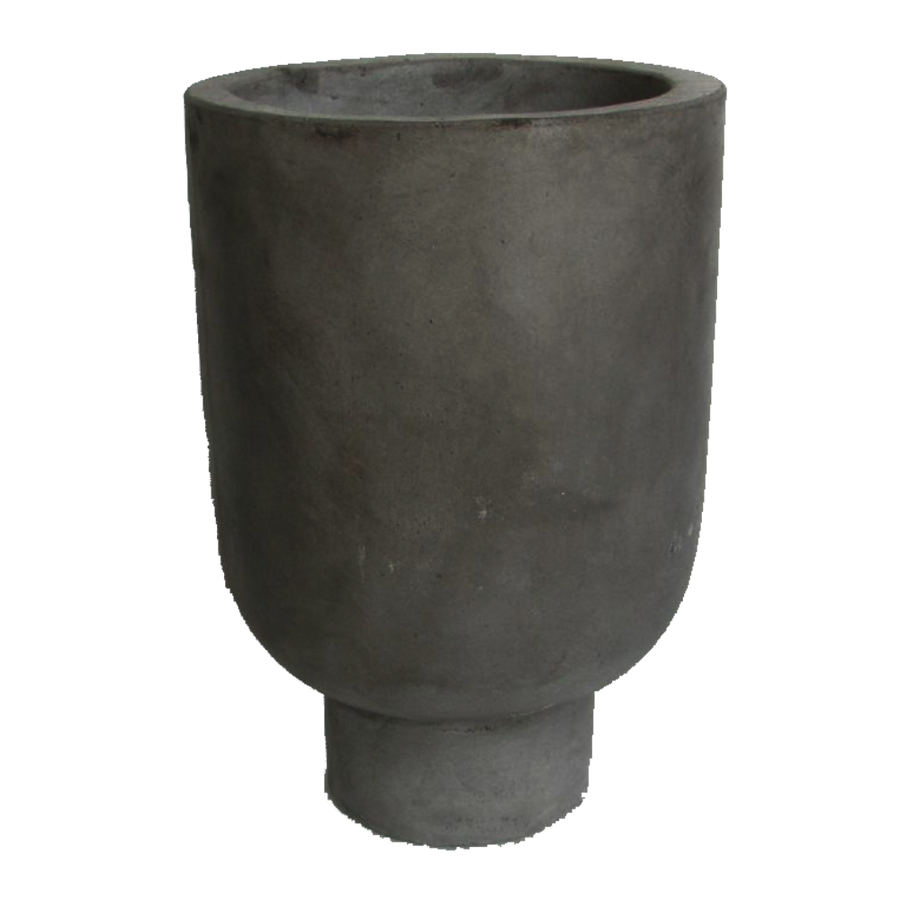 Rom Pot Tall, Charcoal Black by IO Scandinavia