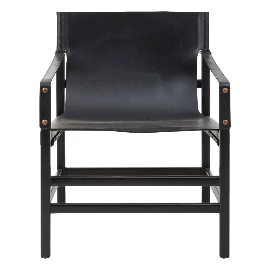 Kendari Black Straight Chair