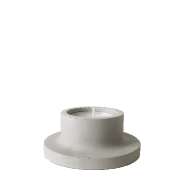 Kort Candle Holder, Concrete Grey