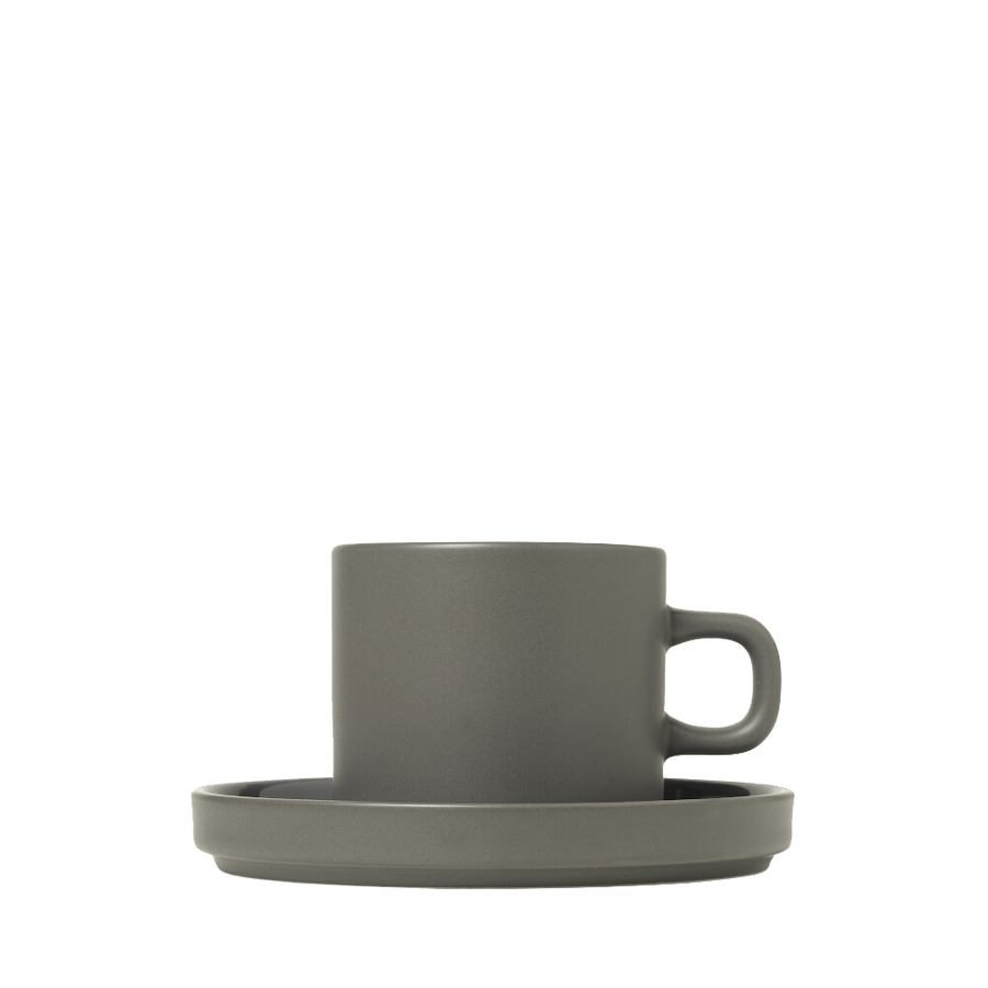 Blomus Mio Set of Two Coffee Cups - Pewter