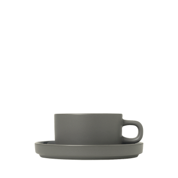 Blomus Mio Set of Two tea Cups - Pewter