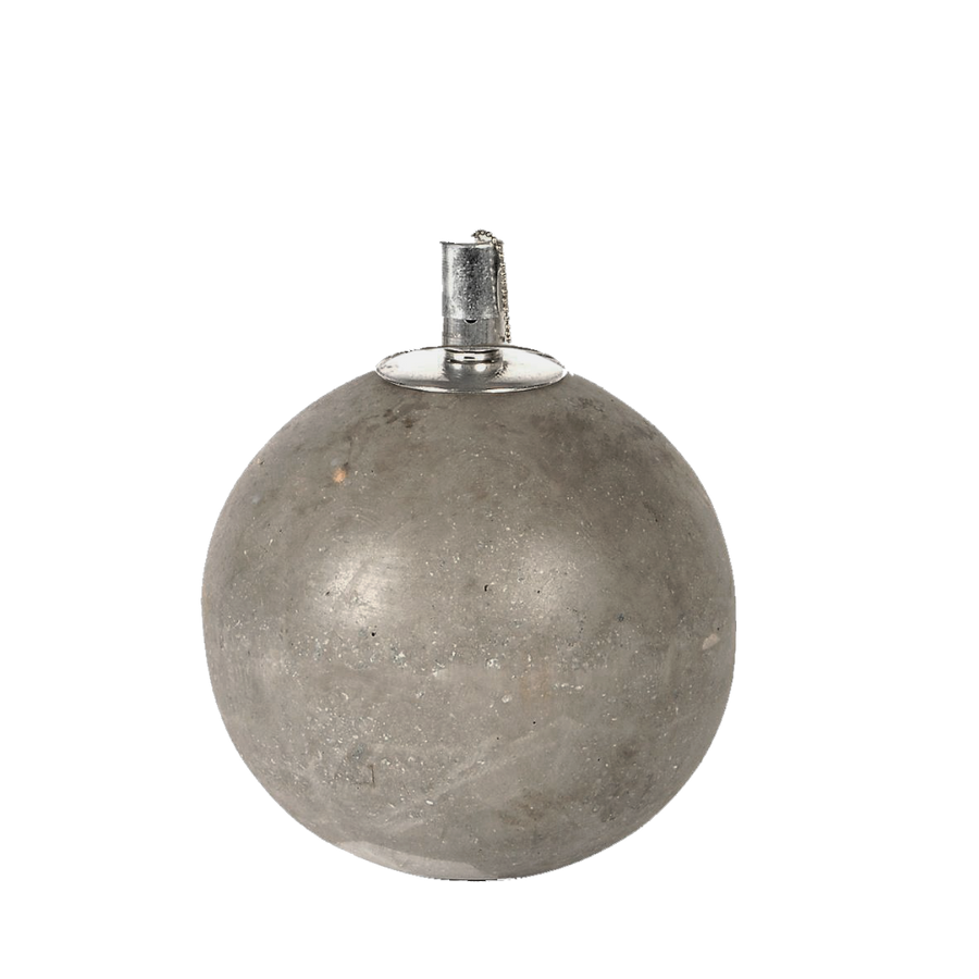 Sphere Concrete Oil Lamp