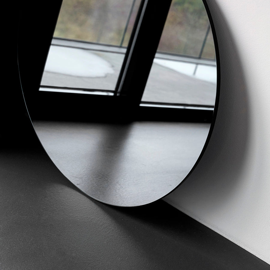 Housedoctor Wall round mirror 50cm, Grey tinted