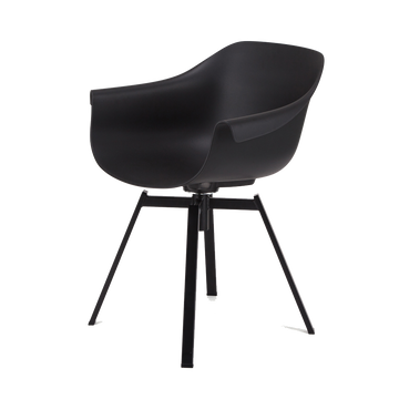 Swivel Dining Chair, Black