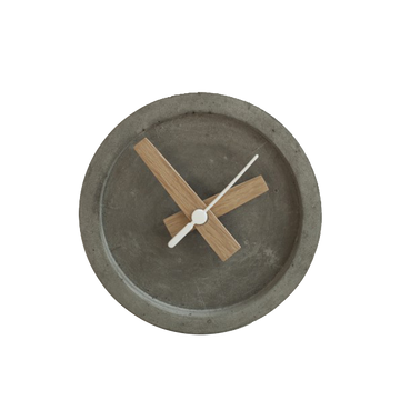Concrete Table Clock -Grey