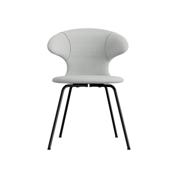 Time Flies Dining Chair, Silver Grey, Black Legs