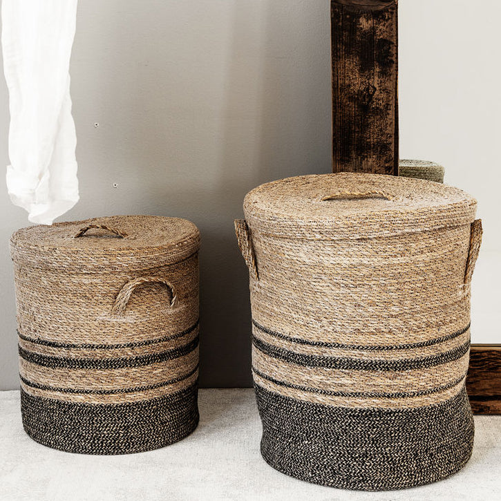 Seagrass Laundry Basket with Lid
