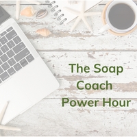 Online Soap Making! Yes it is a thing! It is creative and has no calories! The Soap Coach Power Hour!