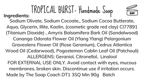Soap label example