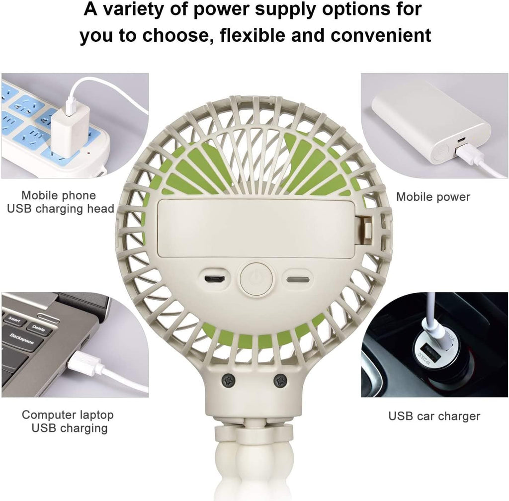 Stroller Fan Mini Portable Fan USB Personal Fan