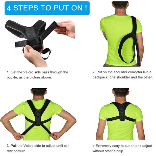 BodyWellness™ Posture Corrector (Adjustable to All Body Sizes) - VESSII