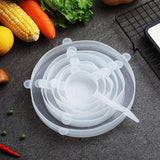6 reusable food silicone packaging lids(Free shipping on purchase of 2 sets)