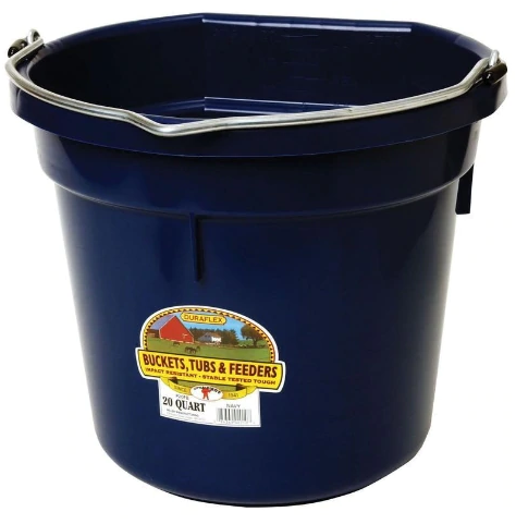Little Giant Plastic Flat Back Bucket 20 QT