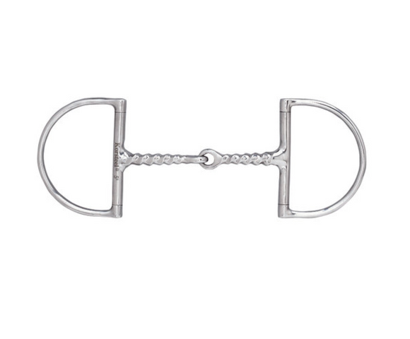 Corkscrew Snaffle Hunter D-Ring Bit