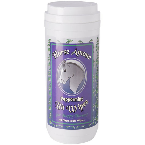 Horse Amour Bit Wipes Peppermint