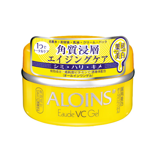 Aloins Eaude VC Gel (Medicated Whitening All In One Gel) 100g - Fruity Citrus Scent - Harajuku Culture Japan - Beauty Products Store