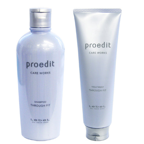 Lebel Proedit Care Works Hair Shampoo 300ml & Hair Ttreatment 250ml Set - Through Fit
