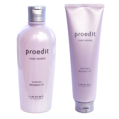 Lebel Proedit Care Works Hair Shampoo 300ml & Hair Ttreatment 250ml Set - Bounce Fit